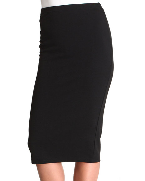 Glamorous - Women Black Jersey Pencil Skirt