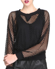 Long-Sleeve - Mesh Pullover