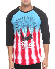 Shirts - Eagle Headdress Tie Dye Raglan Tee