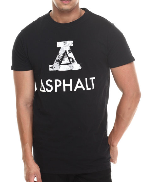 Asphalt Yacht Club - Men Black Concrete Floral Modern Tee
