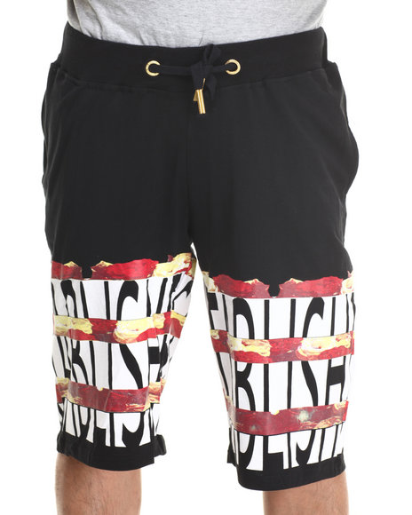 Well Established Black Established Rose Shorts