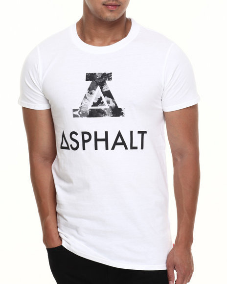 Asphalt Yacht Club - Men White Concrete Floral Modern Tee - $15.99