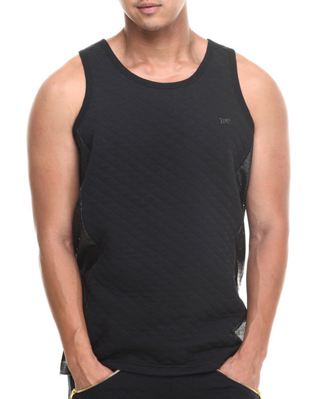 Well Established Black Quilted Tank Top