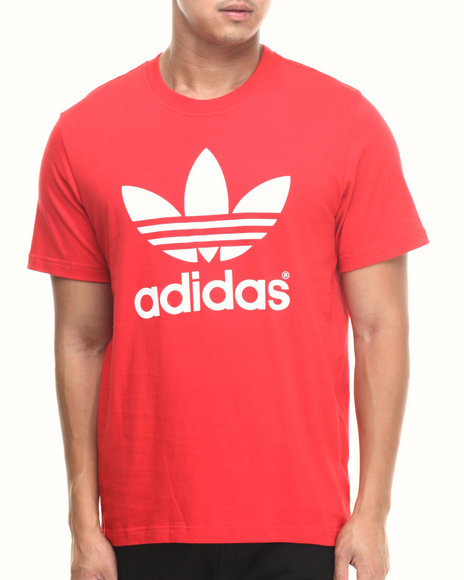 Adidas - Men Red Mirror Trefoil Tee