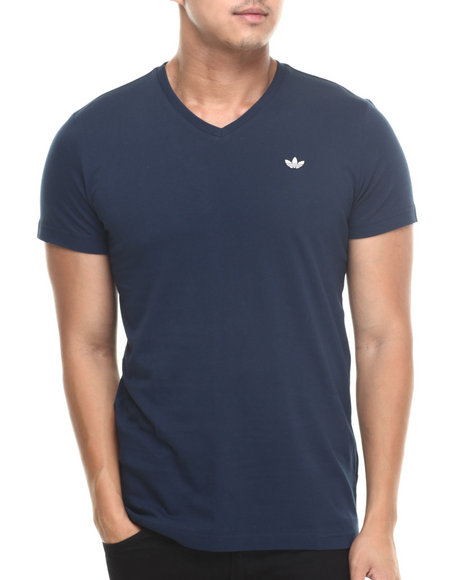 Adidas - Men Navy V Neck Tee