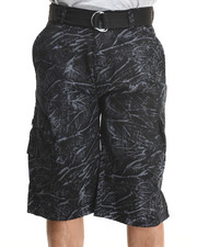 Basic Essentials - Tie Dye Belted Cargo Shorts
