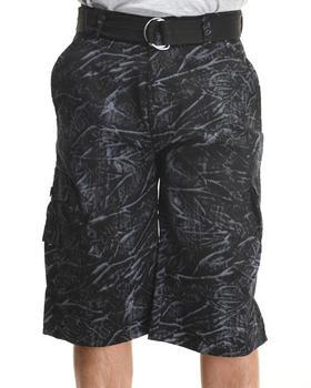 Basic Essentials - Tie Dye Belted Cargo Shorts