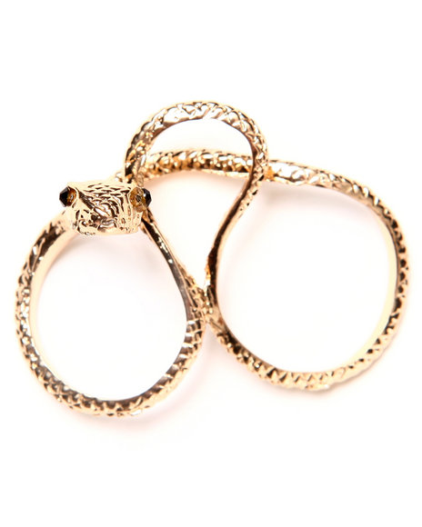 Drj Accessories Shoppe Women Knuckle Snake Ring Gold