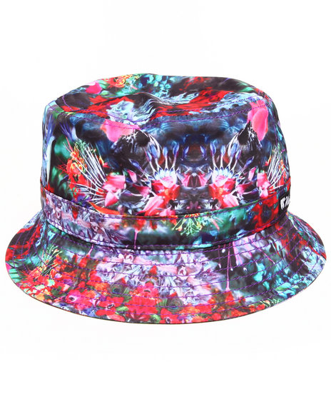 Waimea Men Exotic Floral Bucket Hat Red Small/Medium