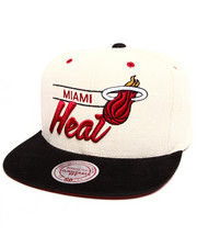 Mitchell & Ness - Miami Heat City Bar Script Snapback Hat
