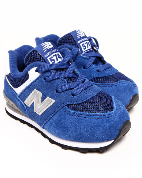 New Balance Boys Blue 574 Varsity Sneakers (5-10)
