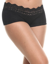 Intimates & Sleepwear - Floral Textured Stripe Lace Trim Seamless Short