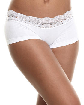 Baby Phat - Floral Textured Stripe Lace Trim Seamless Short