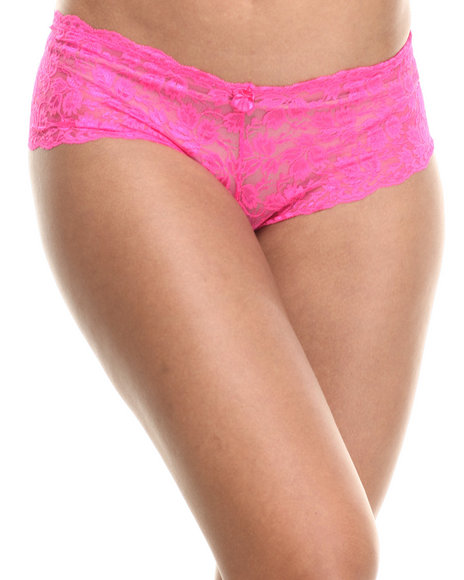 Baby Phat - Women Pink Gallon Lace Sexy Short