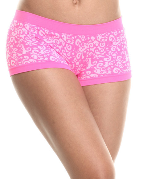 Baby Phat - Scroll Textured Tribal Seamless Short