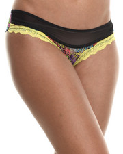 Intimates & Sleepwear - Animal Print Lace Mesh Cheeky Panty