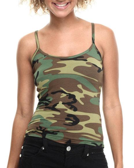 Women Camo Woodland Camo Tank Top