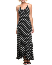 Fashion Lab - Diagonal Stripe Maxi Dress