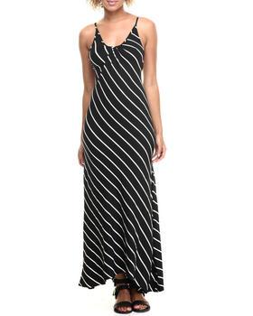 Fashion Lab - Diagonal Stripe Maxi Dress