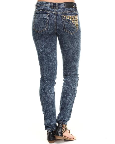 COOGI Medium Wash High Waisted Pyramid Pocket Jean