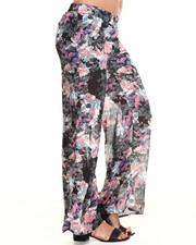 Pants - Floral Print Palazzo Pant