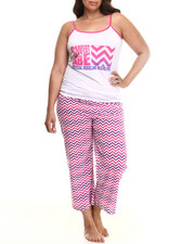 Intimates & Sleepwear - Chevron  Capri PJ Set (Plus)