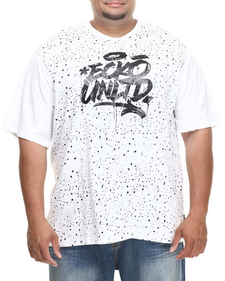 Ecko White Splat Effect T-Shirt (Big & Tall)