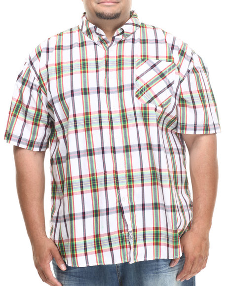 Rocawear - Men White Madras S/S Button-Down (B&T)