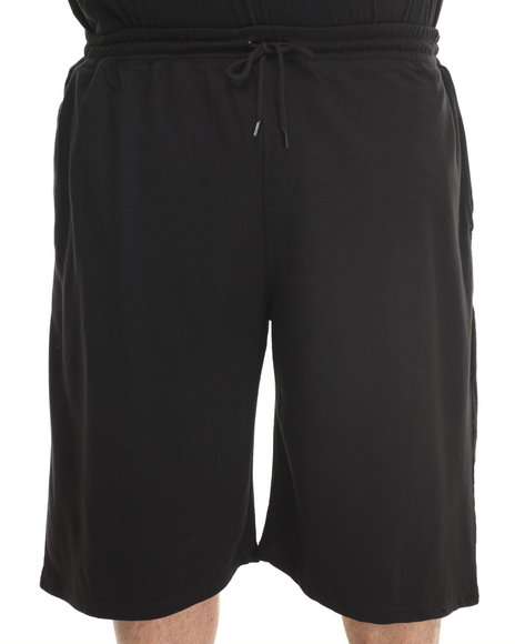 Rocawear - Men Black Scratch Solid Knit Shorts (B & T)