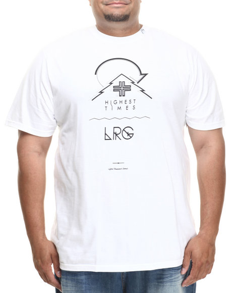 Lrg - Men White Highest Times S/S Tee (B&T) - $22.99