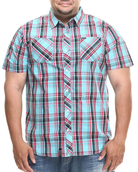 Lrg - Men Light Blue Born To Thrill S/S Button-Down (B&T)