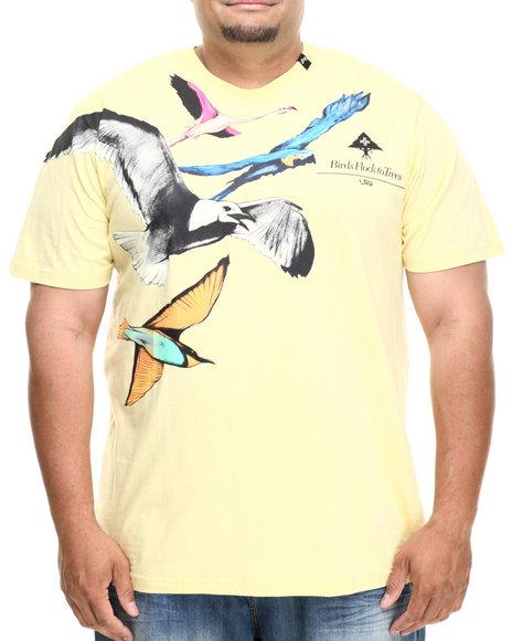 Lrg - Men Yellow Birds Flock To Trees S/S Tee (B&T) - $32.99