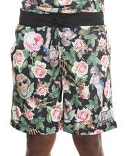 Shorts - Angelic Rich Floral Mesh Short