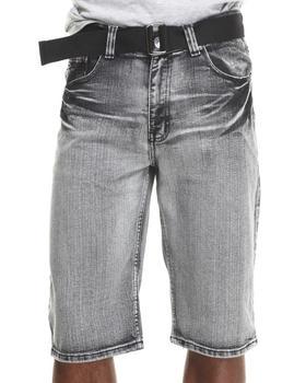 Basic Essentials - Belted Vintage Denim Shorts