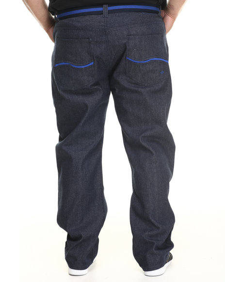 Enyce - Men Blue New Tradition Belted Denim Jean (B&T)