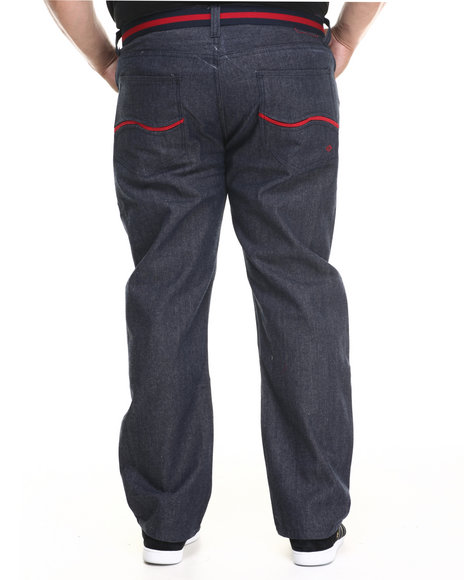 Enyce - Men Red New Tradition Belted Denim Jean (B&T)