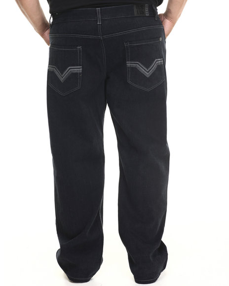 Basic Essentials - Men Black Valley Colored Bull - Denim Jeans (B&T)