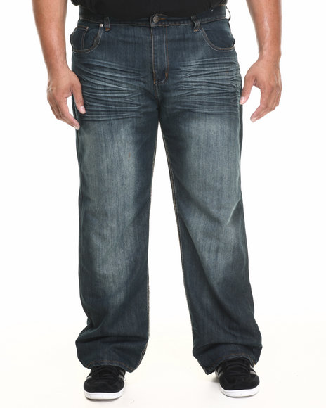 Buyers Picks - Men Medium Wash Faded Front Baked Denim Jeans (B&T) - $26.99