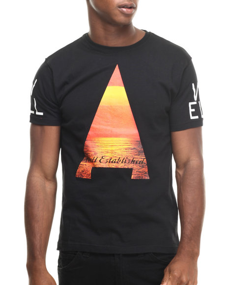 Well Established - Men Black Established Sunset Tee