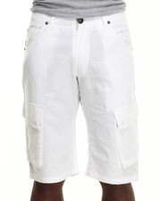Well Established - Well Established Linen Cargo Shorts