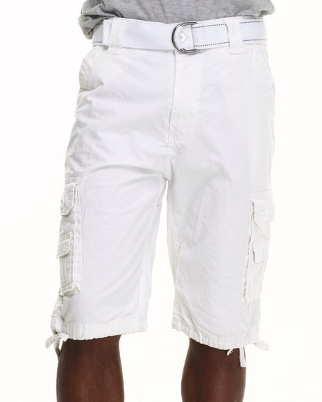 Mo7 - Men White Mo7 Classic Cargo Shorts