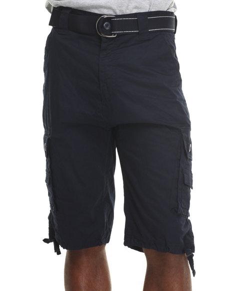 Mo7 - Men Navy Mo7 Classic Cargo Shorts