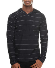 Hoodies - Stripe Notch Neck Pullover Hoody