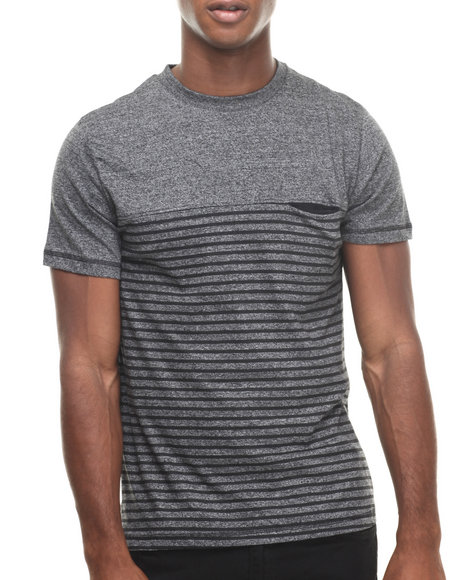 Buyers Picks - Men Grey Graphite Grindle Stripe S/S Tee