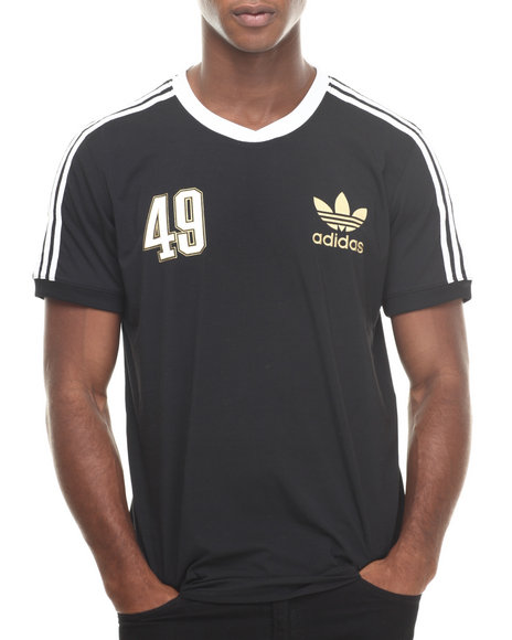 Adidas - Men Black Soccer V-Neck Tee