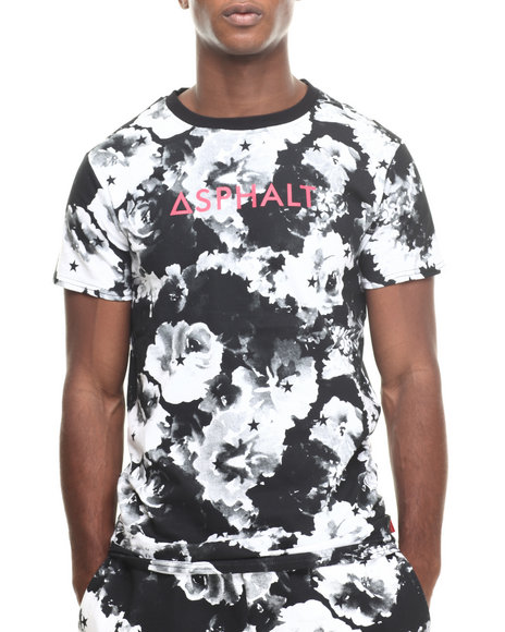 Asphalt Yacht Club - Men Black,White Concrete Floral Pleasures Tee