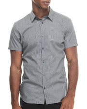 Button-downs - Micro Print Poplin Short Sleeve Woven