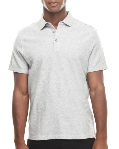 Calvin Klein - Men Grey Signature Logo Pique Polo - $26.99