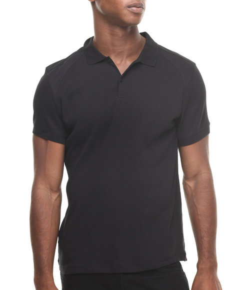 Calvin Klein - Men Black Short Sleeve Solid Polo - $39.99