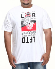LRG - HUSTLE AND GROW S/S TEE (B&T)